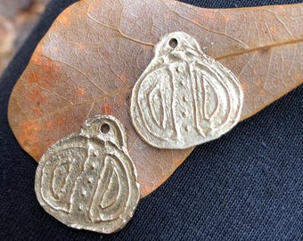 New - Brass Metal Clay Charms, PurpleLilyDesigns