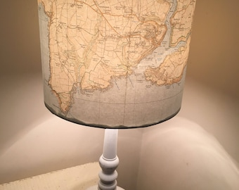 Hand Made Vintage Map Lamp Ceiling Light Shade perfect Wedding/Anniversary Birthday gift idea!
