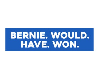 Political Bumper Sticker Decal - Bernie Would Have Won - FREE SHIPPING