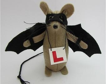 Bat Mouse - Batman - Felt Mice - Felt Mouse - Mouse Ornament