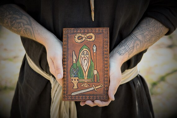Tarot Card Leather Journal / Moleskin Cover Portfolio