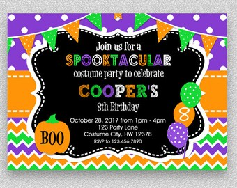 Halloween birthday party invitations halloween costume party halloween birthday invitation kids halloween party invitation costume party invitation halloween birthday party invitations invitations filmwisefo