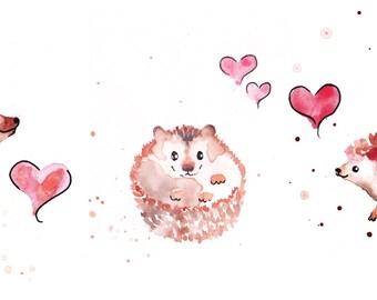 Hedgehog Prints Set of 3