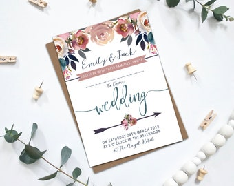 PRINTABLE Wedding Invitation Bundle - Layla Collection