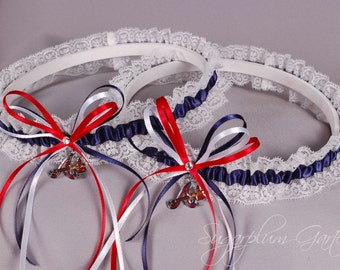 Atlanta Braves Lace Wedding Garter Set