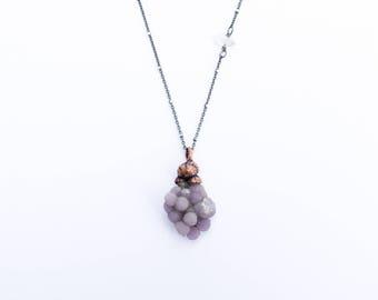 Grape Agate necklace | Agate jewelry | Agate pendant necklace | Sterling Agate necklace | Natural agate jewelry | Agate Cluster