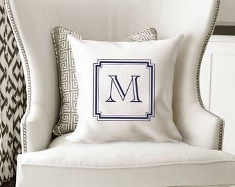 Monogrammed Pillows, Initial Pillow, Monogrammed, Monogrammed Pillow Covers, Custom Pillow, Personalized Pillow