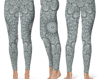 Leggings With Patterns for Women, Mandala Yoga Wear, Printed Yoga Pants, Art Leggings