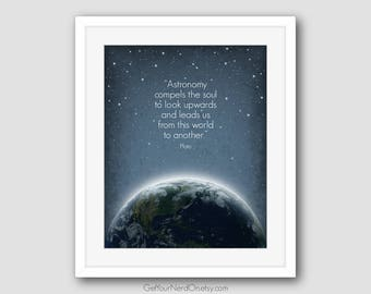 Inspirational Quote, Astronomy Poster, Space Nursery Decor, Astronomy Gifts, Best Seller