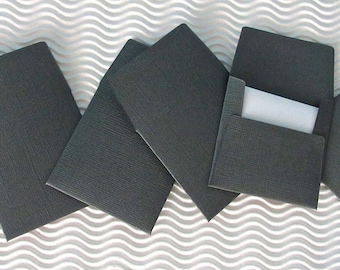 36+ teeny tiny envelope note card sets handmade in cinder grey mini miniature square party favors weddings stationery guest book