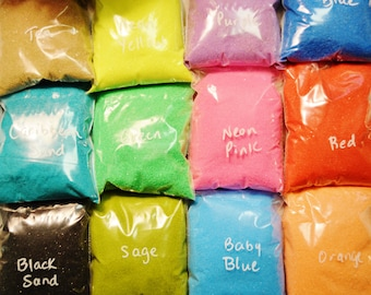 Bag of Sand - Lots of Colors to choose from - 5 oz bag.  Amount needed for small terrariums - DIY - Build-a-Terrarium