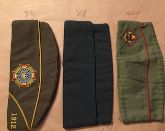 WW2 Military Side Caps, Various Types, listing is for only one