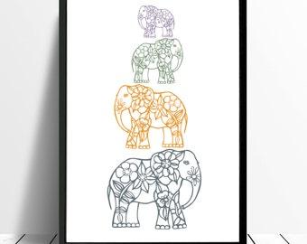 Minimalistic & Modern Nursery | Elephants | Safari Animals