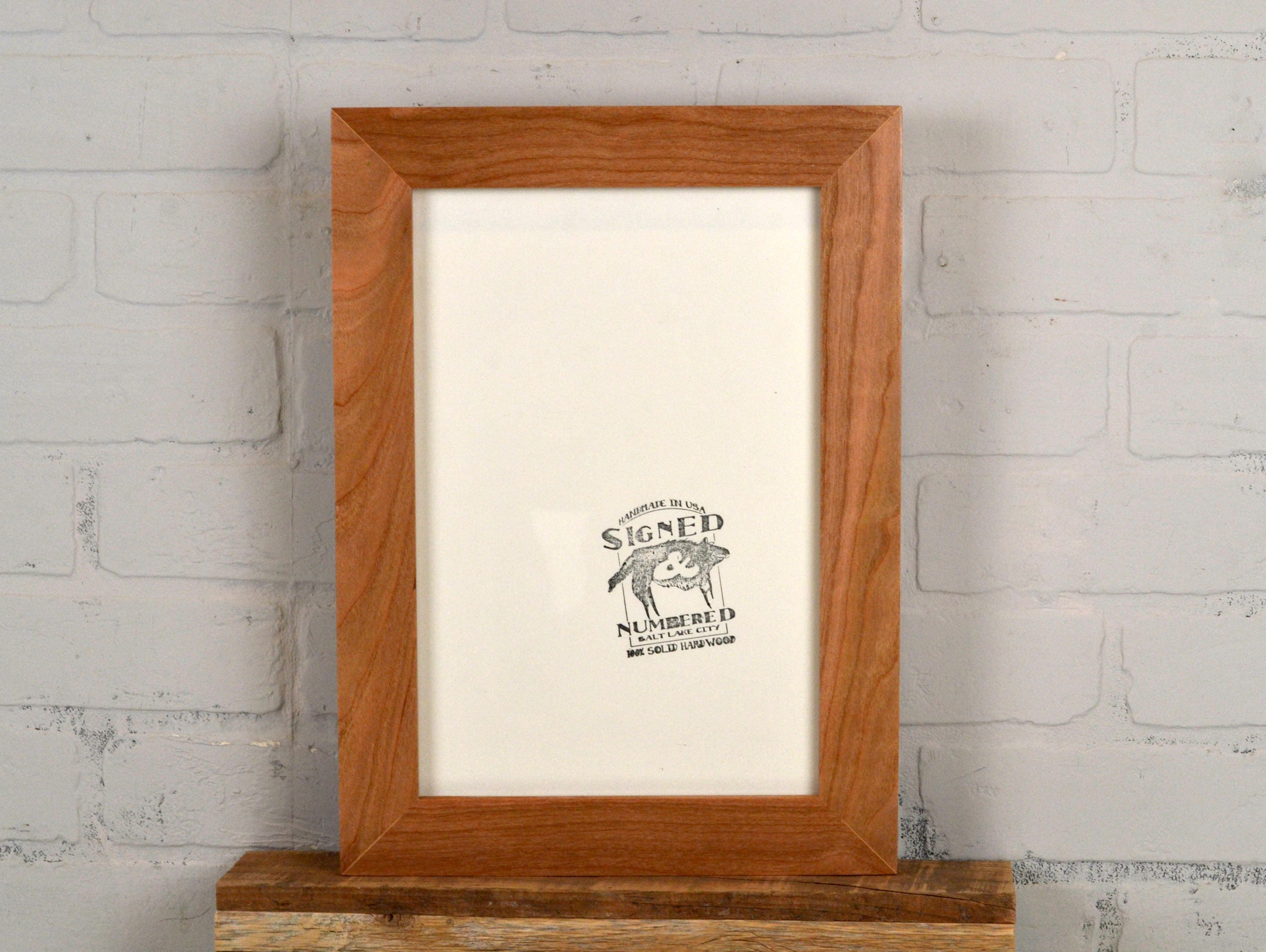 8x12 picture frame in 15 wide solid natural cherry wood frame sold by signedandnumbered jeuxipadfo Choice Image