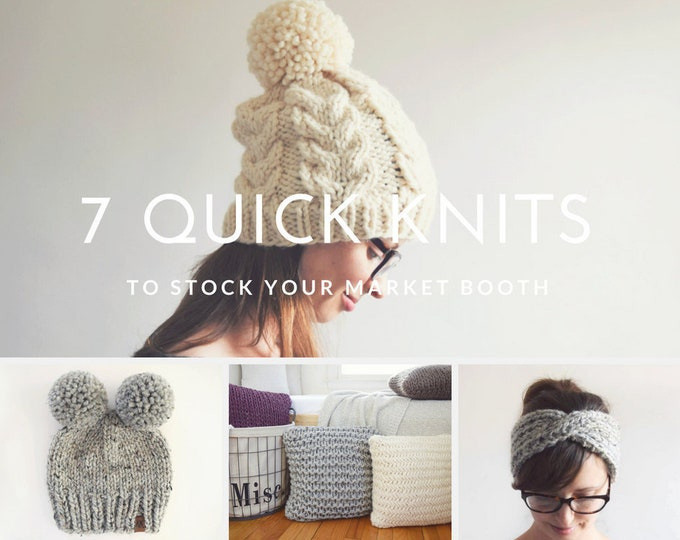 Featured listing image: 7 Quick Knits To Stock Your Market Booth