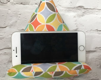 Phone/Tablet Cushion // Phone Stand // Tablet Stand // Phone Pillow // Tablet Pillow // iPhone Samsung Galaxy iPad // Beanbag