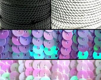 91 m Ribbon sequins 6mm in diameter, 4 colors