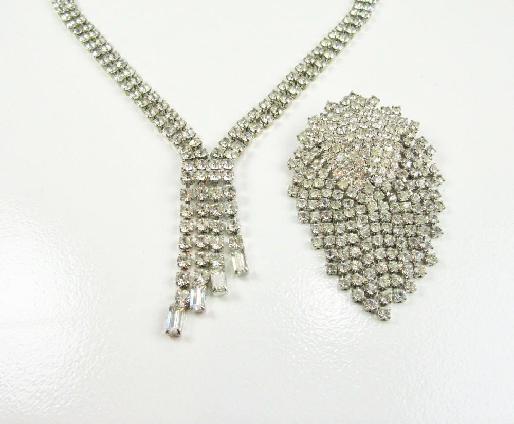 cantu rhinestone necklace con box cadena cristal grande collar jewelry large products laura oval