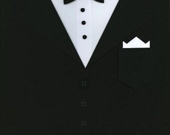 Tuxedo Scrapbook Page