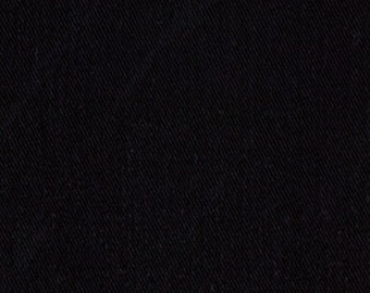 6.5 oz Sanded Brushed Cotton Twill Fabric BLACK Apparel Clothing Crafts Home Decorating