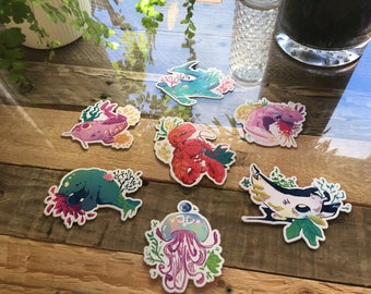 Flora & Fauna I / Original Art / Stickers