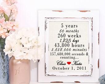 5 Year Anniversary Gift, 5 Year Anniversary For Her, 5th Wedding Anniversary Gift, Anniversary Party Decor