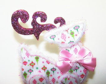 Reindeer, Pink Christmas, Christmas Ornament, Lime, Home Decor, Holiday Decor, Pink, Ornament, OOAK, Free Shipping, Holiday, Christmas, Deer