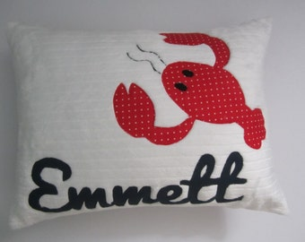 A Bright Fun Personalized Lobster Pillow