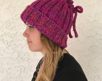 Cowl/Hat Conversion in Magenta and Purple