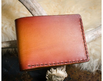 Sunburst vegetable tan leather bifold wallet