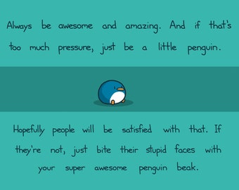 Always Be Awesome and Amazing Art Print