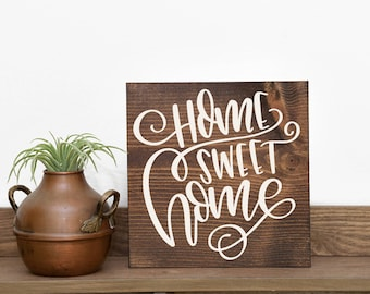 Home sweet home sign | Home sweet home | Closing gift | Home decor | Sign gift | Welcome gift | Housewarming gift | New home | wood sign