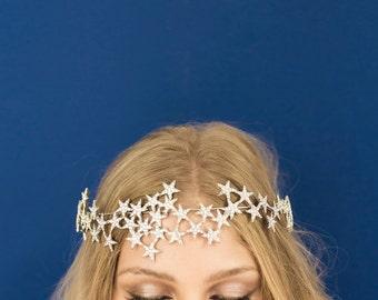 Star Halo Crown Headband Bridal Party