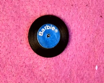 """Vintage Barbie """"DISC DATE"""" 1965 Blue Barbie Record VERY Hard To Find And In Excellent Condition!"""