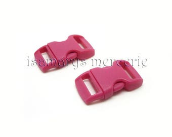 X 2 loops quick strap 10 mm pink curved - total measure 29 x 15 mm