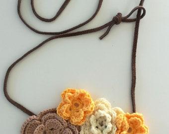 Flower Crochet Necklace