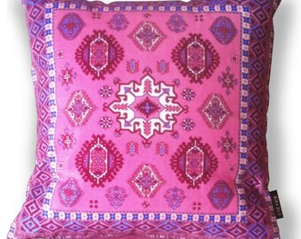 Sofa pillow pink velvet cushion cover PEONY