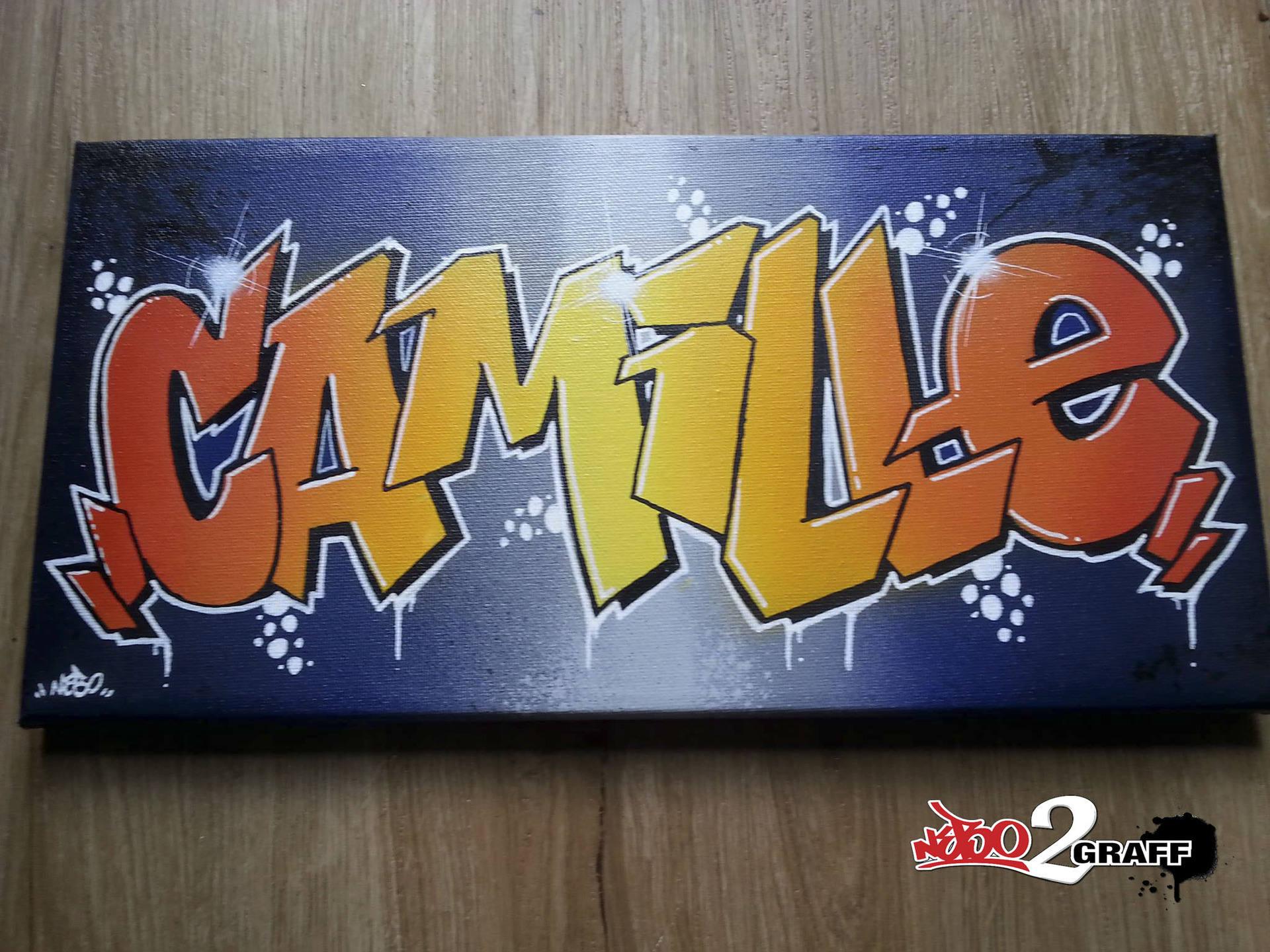 Graffiti Gift Name Canvas Painting Original Deco Graff Custom