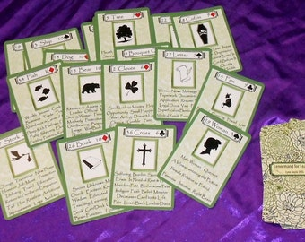 Lenormand for Learners (with Key Words) Fortune Telling Oracle 38 Cards by Lynn Boyle