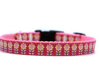 5/8 or 3/4 Inch Wide Dog Collar with Adjustable Buckle or Martingale in Folklore
