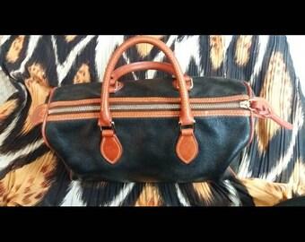 Vintage Dooney and Bourke pebbled  leather satchel EXCELLENT vintage condition!