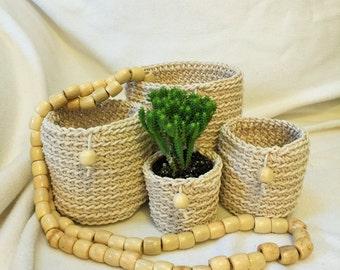 Cotton Pot Plant Holders