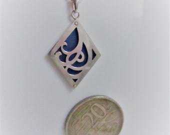 Art Nouveau inspired pendant on chain