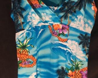 Island Print Beach Dress/by Aqua Blues /Size 3