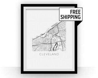 Cleveland Map Print