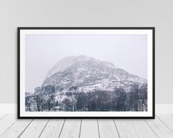 Fog Wall Art, Fog Art Picture, Foggy Mountain Print, Foggy Print, Fog Printable, Fog Photo Print, Mist Fog Print, Foggy Mountain