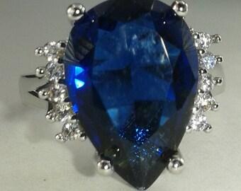 Sterling silver London blue Topaz Ring size 5.25