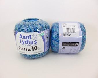 Ocean - Aunt Lydia's variegated Crochet Cotton Classic Size 10