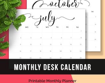 free printable 2018 calendar monthly