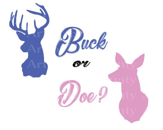 Baby Gender Reveal Buck & Doe - Edible Cake and Cupcake Topper For Birthday's and Parties! - D22922